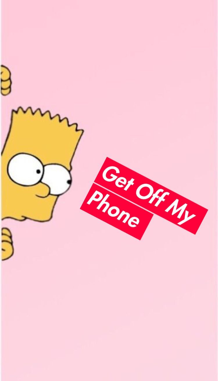 Get Off My Phone Bart Simpson Wallpapers Wallpaper Cave In 2021 Wallpaper Iphone Cute Pretty Wallpaper Iphone Funny Phone Wallpaper
