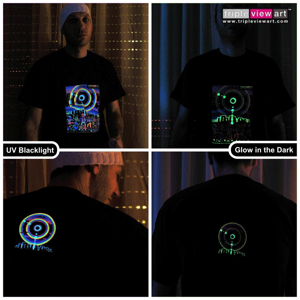 Black light t shirt ideas - Mens T Shirt Uv Blacklight Glow In The Dark Psychedelic Psy Goa Trance Art Club In Clothing Shoes Accessories Men S Clothing T Shirts Ebay