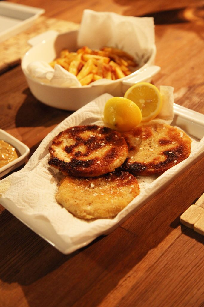 #Sellerieschnitzel mit #Pommes