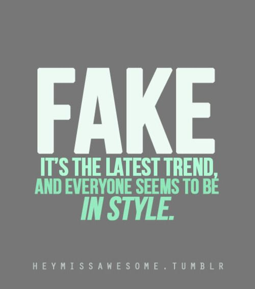 Love Is Fake Quotes: Picture Quotes About Fake People