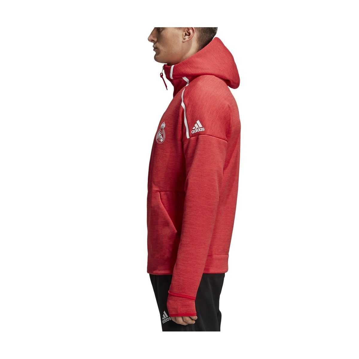 Veste Adidas Real Madrid Z.n.e. Hoodie Rouge Homme Taille