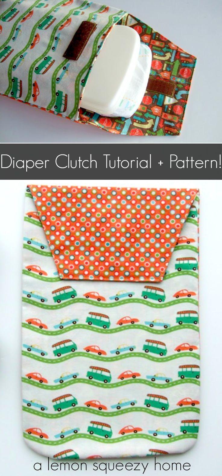 Diaper Clutch: Tutorial | Nähen für kinder, Babysachen und Babys