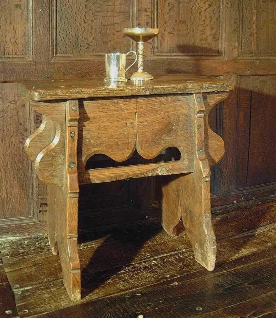 Handmade Medieval Style Oak Stool   Middle Ages   Early English   Bedside  Table   Occassional