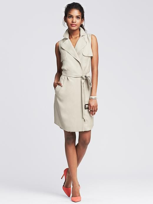 e0bf69f2b1276a Belted Trench Dress
