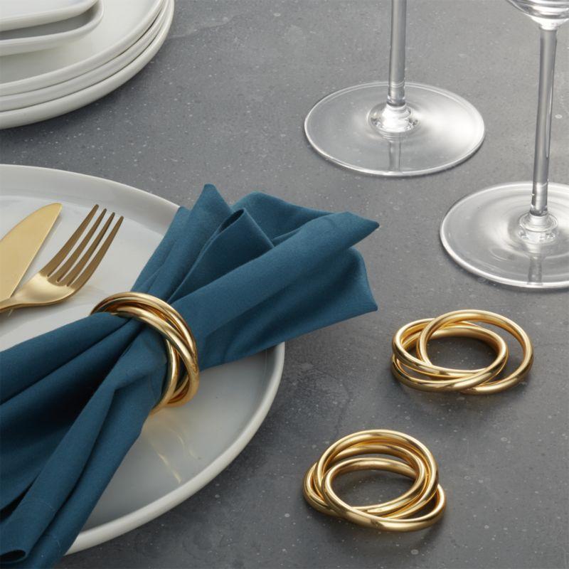 Shop 3 Ring Gold Napkin Ring Three Interlocking Golden Bangles Fashion A Sophisticated Napkin Ring Made Of Gold Pl Napkin Rings Gold Napkins Gold Napkin Rings