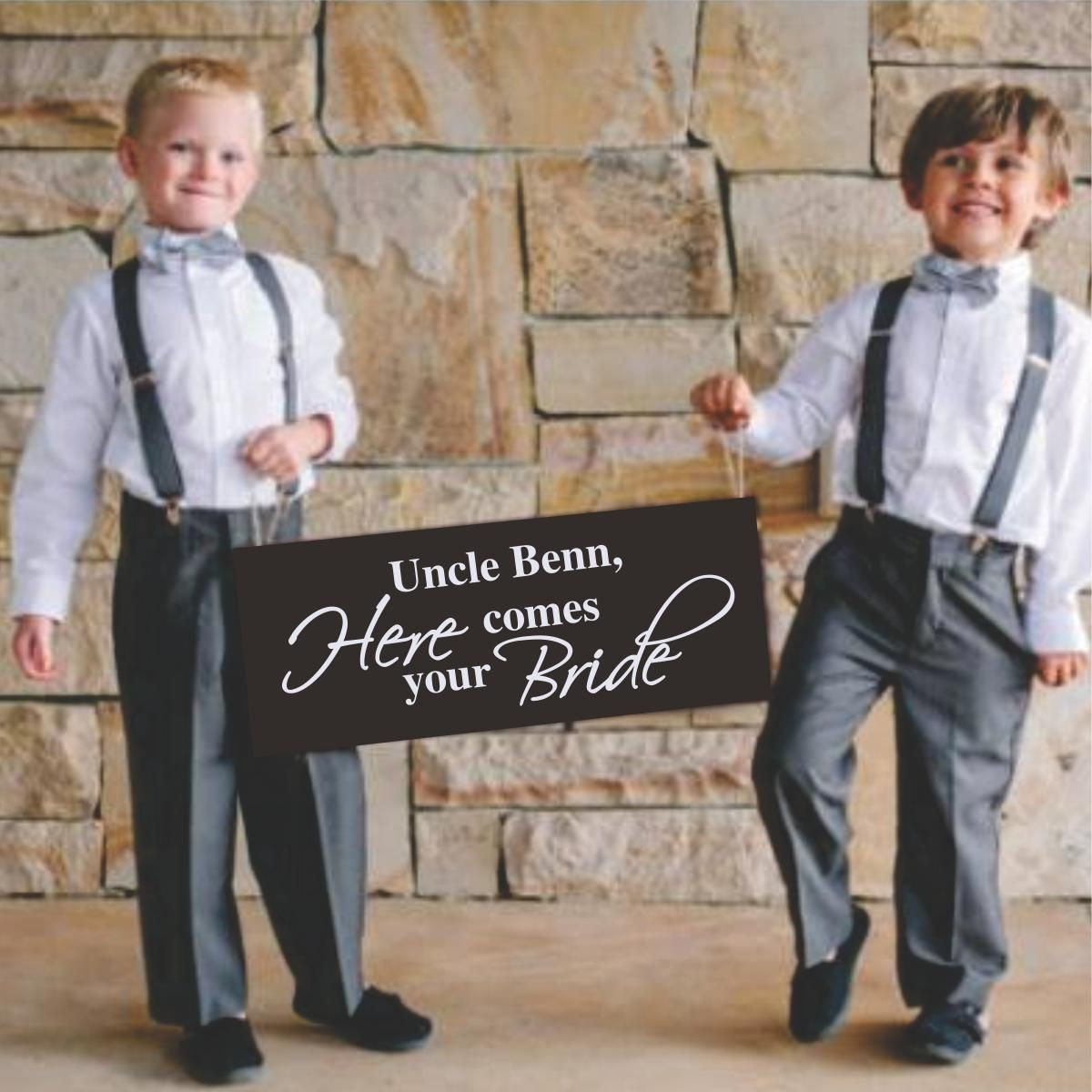 Personalized Wedding signs Wedding decorations Wedding decor Custom wedding signs. Uncle here comes your bride sign Ring bearer sign