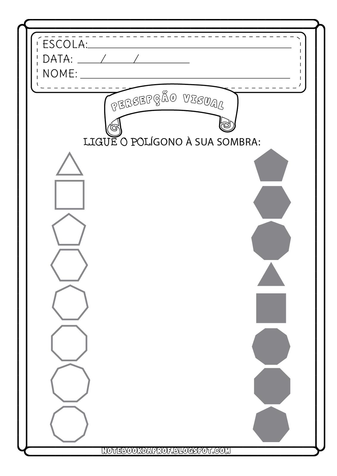 Fichas Percepção Visual - Nível médio   imprimir   Pinterest ...