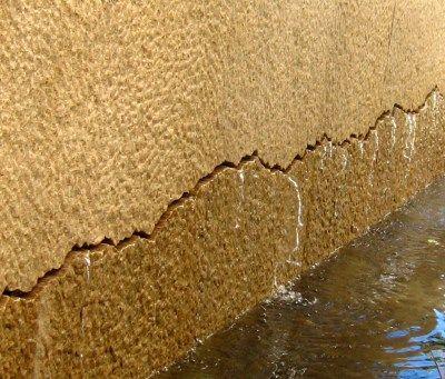 Detail - Wall of 100 Springs, Laser-cut crack
