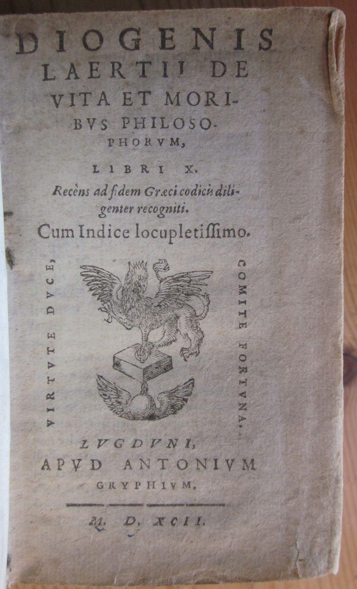 Device of Antonius Gryphius, heir of Sebastian Gryphius, Lyon, 1592