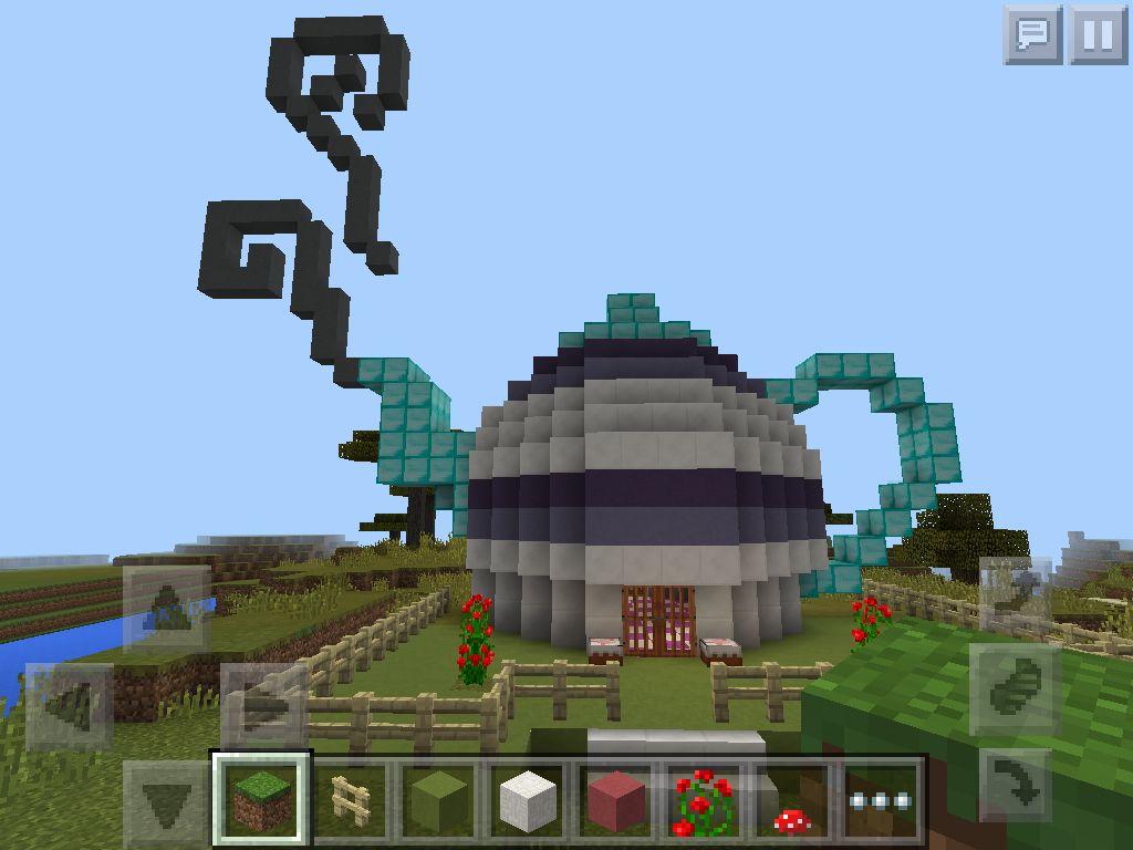 Built A Cute Teapot House In Minecraft Minecraft Pinterest - Minecraft spielen hauser bauen