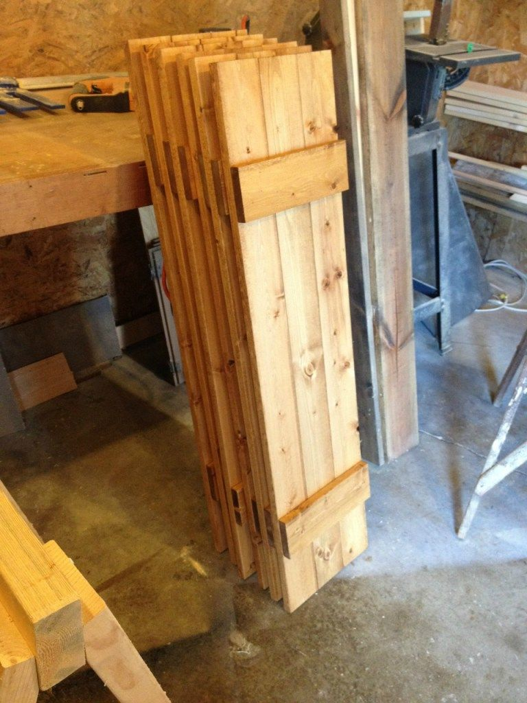 Super Simple Diy Shutters Wood Amp Branches Diy Shutters