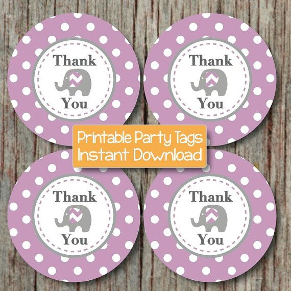 DIY Favor Tags Thank You Labels Baby Shower or Birthday Party Supplies by BumpAndBeyondDesigns, $4.00