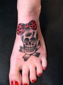 Calavera Con Mono Diseno De Tatuaje De Calavera Tatuaje Tobillo