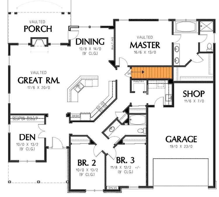 Plan 69022am Single Story Home Plan Single Story House Floor Plans House Plans New House Plans