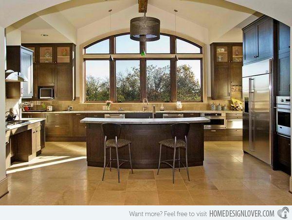 15 Big Kitchen Design Ideas Home Design Lover Large Kitchen Layouts Kitchen Layout Kitchen Design