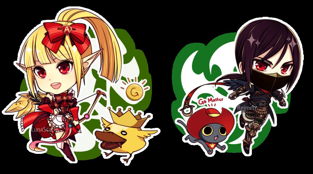 Dn Archer And Assassin By Na Nami On Deviantart Dragon Nest Anime Chibi Anime