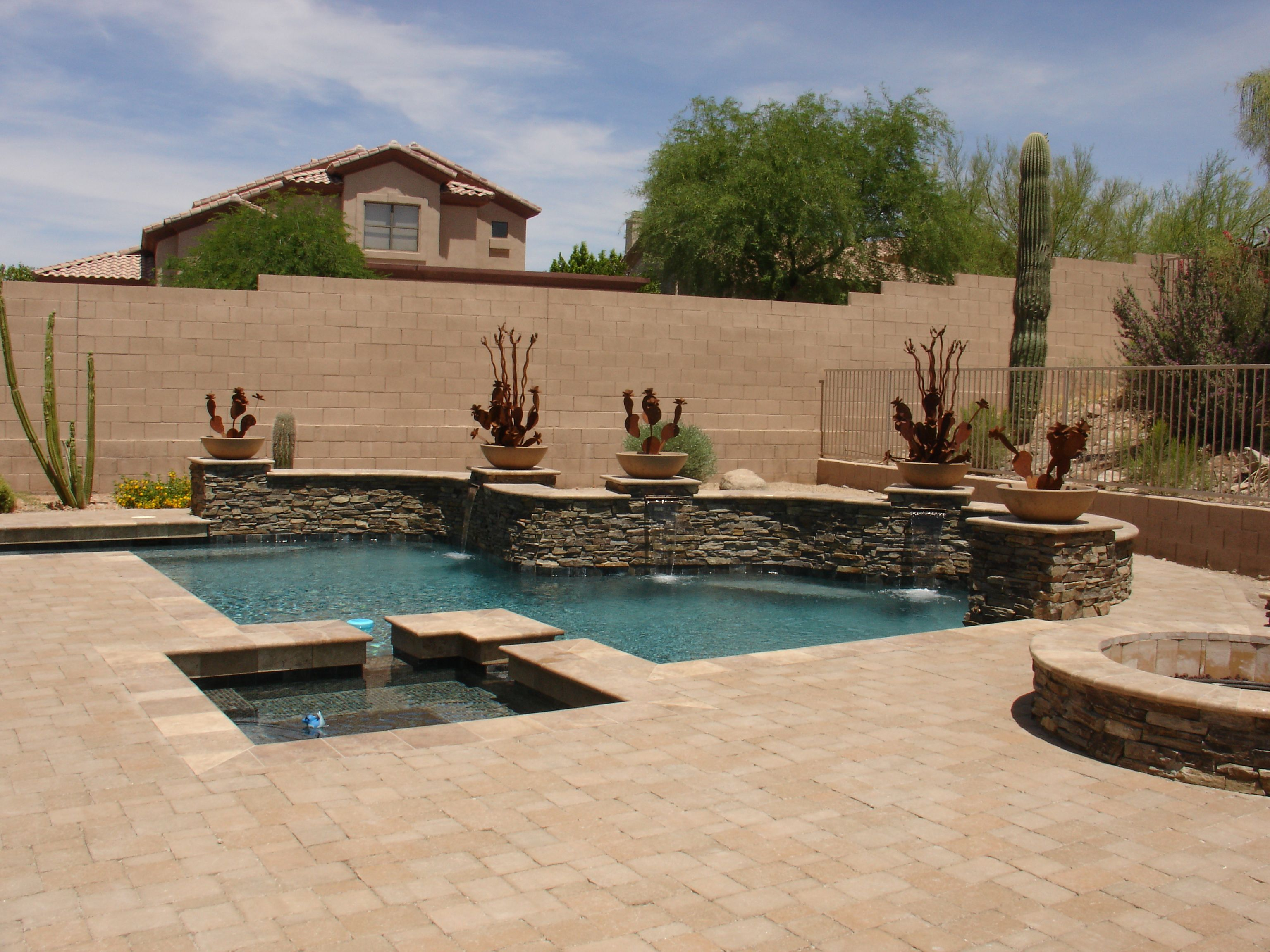 More Pool Pool Planters Backyard Pool Designs Swimming Pools