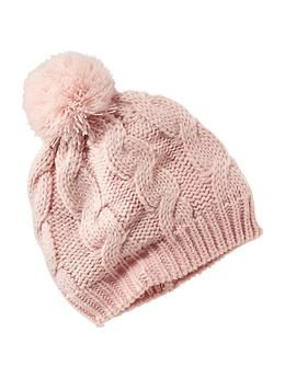 Cable-Knit Pom-Pom Beanie for Baby | Old Navy