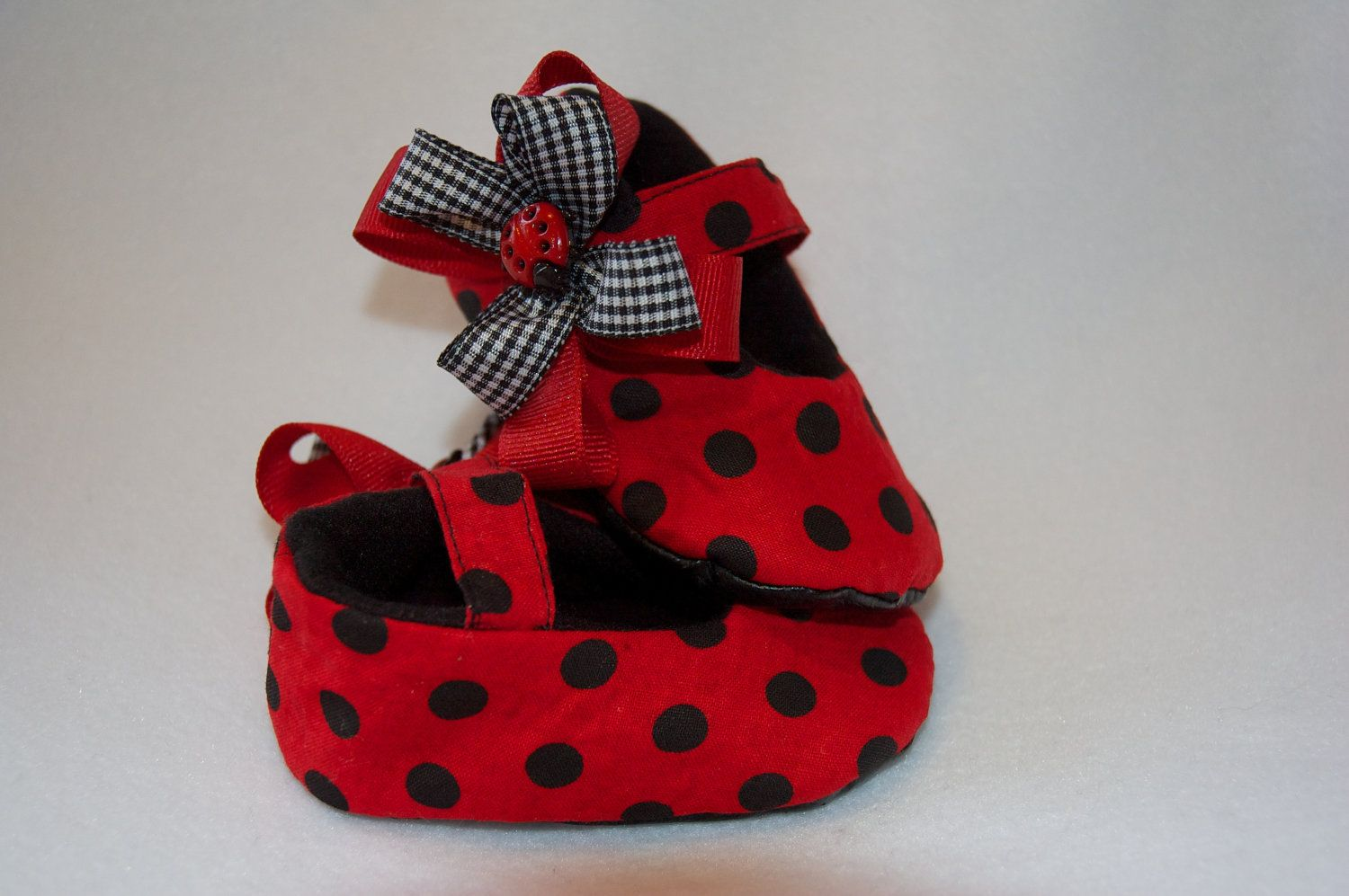 Baby Girl Lady Bug Mary Janes by BabyKickz on Etsy, $21.50