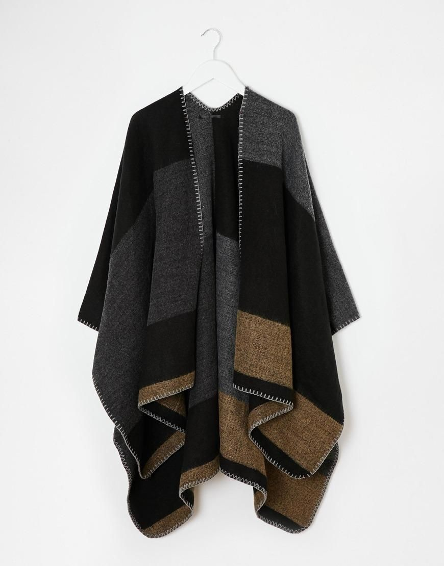 New look new look blanket stitch cape at asos what to wear