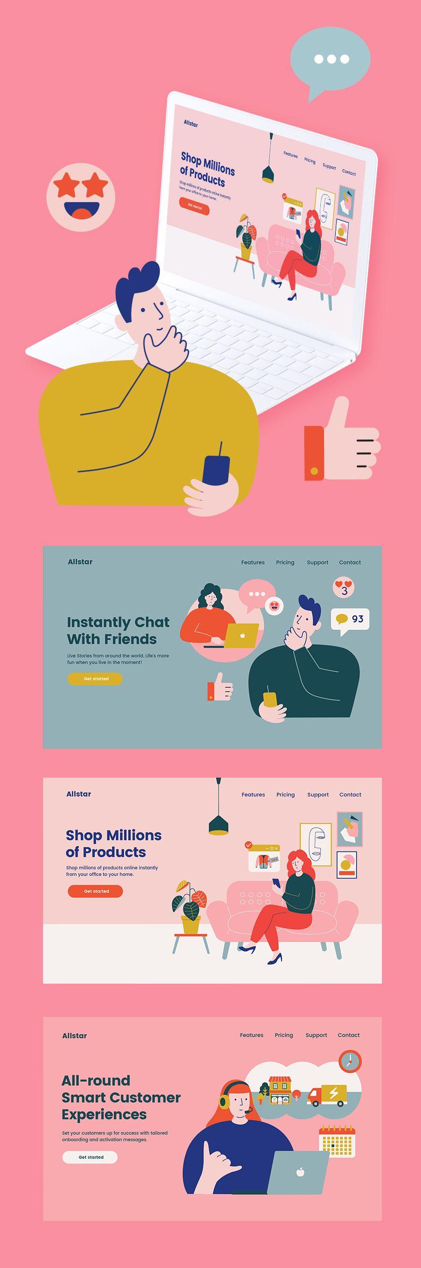 Beautiful Illustration Kit — UI Place