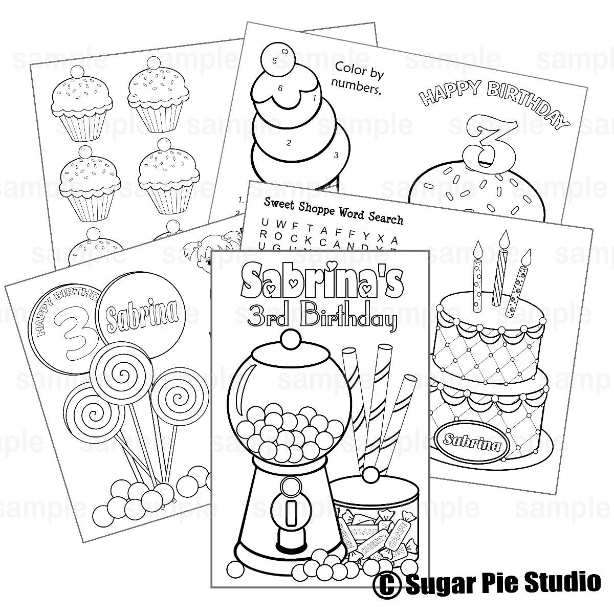 Printable Personalized Custom Sweet Shoppe Candy Favor ...