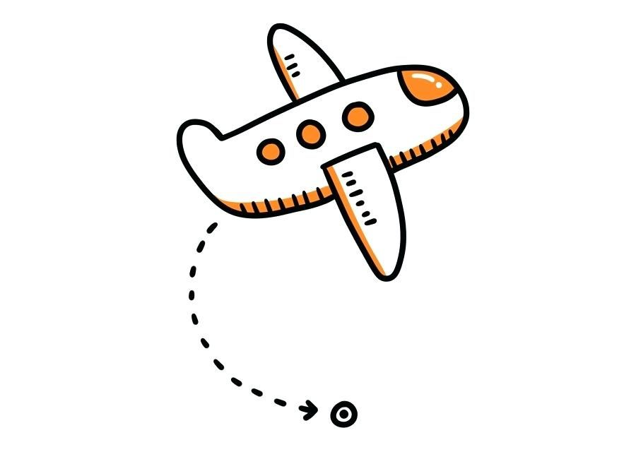 Airplane Pattern Airplane Cartoon Clip Art Orange Simple Plane