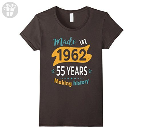 Womens Vintage Age 55 Years 1962 Making History 55th Birthday Shirt XL Asphalt - Birthday shirts (*Amazon Partner-Link)