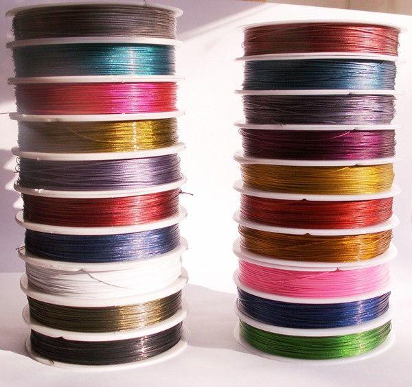 100 m Draht auf Kunststoffspule 0,45 mm, 20 Farben