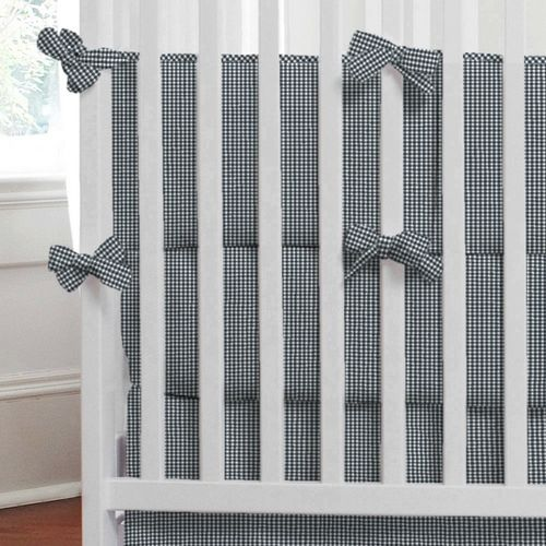 Navy Gingham Baby Crib Bedding Collection Carousel Designs