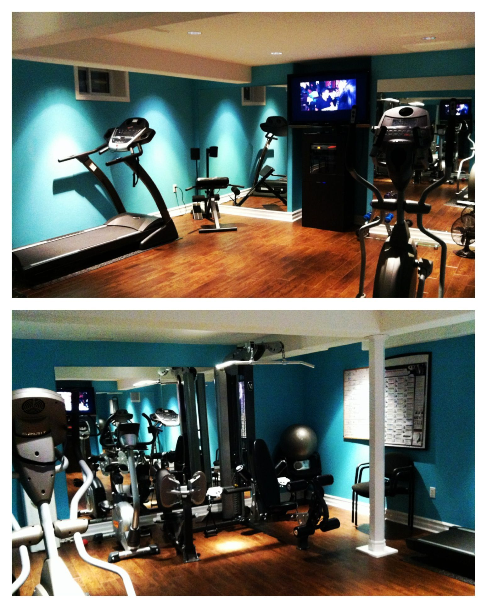 Art Decor On Basement Home Gym Decor