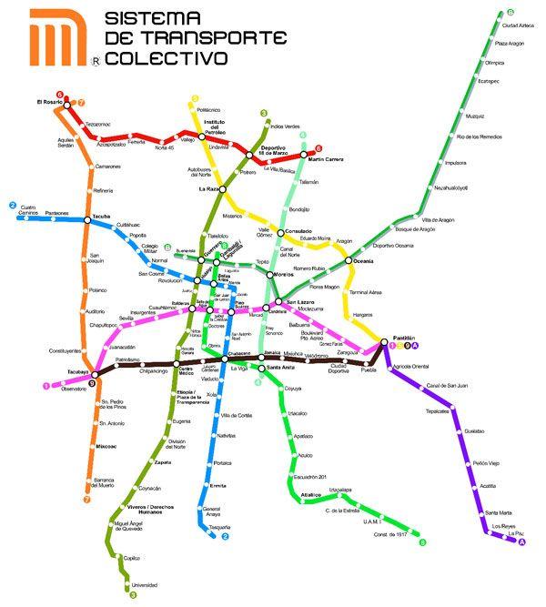 Plano Del Metro De Mexico D F Con Imagenes Mapa Del Metro