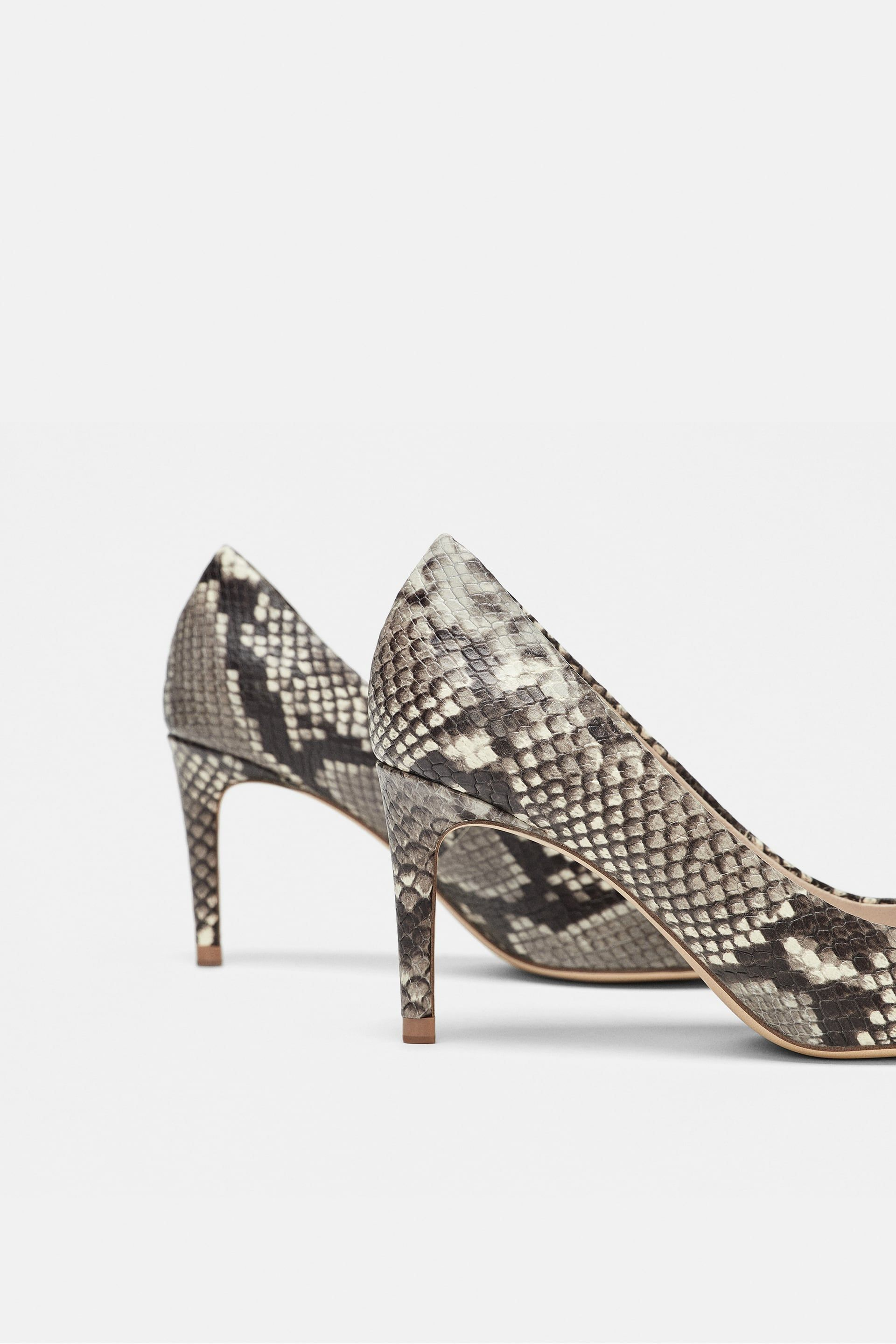 f4969b92460 Image 4 of SNAKESKIN PRINT LEATHER PUMPS from Zara