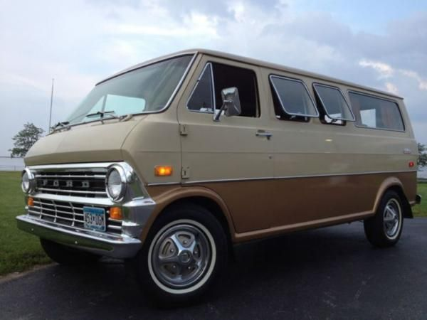 Ford Club Wagon 1970 1 Ford Van Vans Vintage Vans