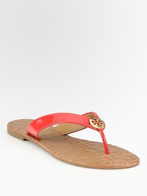 4c004867bc7f Tory Burch Thora Patent Leather Flip Flops  SaksLLTrip