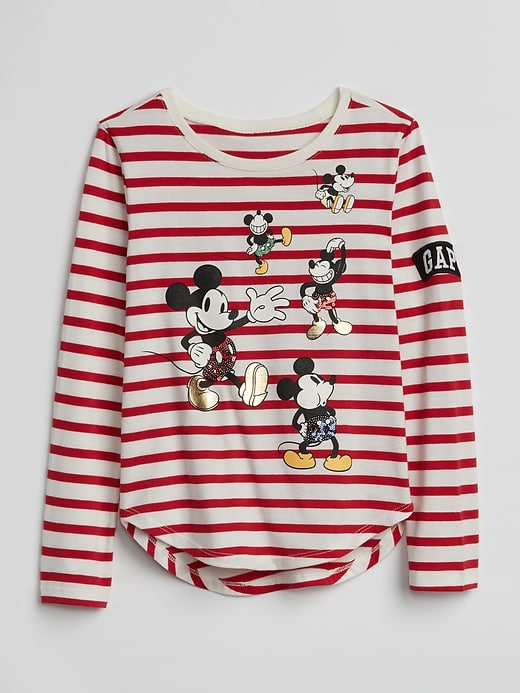 9172ecd6 Gap Girls Gapkids | Disney Mickey Mouse And Minnie Mouse T-Shirt Red Stripe