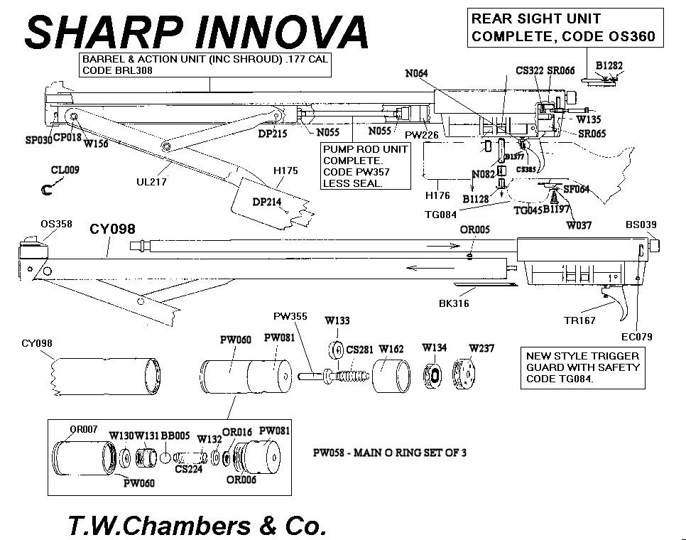 Sharp Innova diagram | Air guns | Shotgun, Air rifle