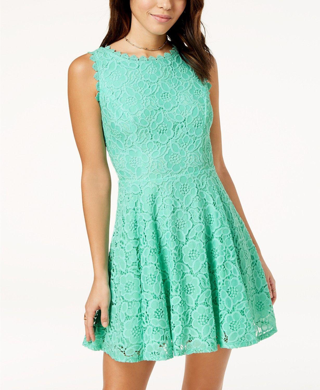 9e0878687 City Studios Juniors' Lace Fit & Flare Dress Juniors - Dresses - Macy's