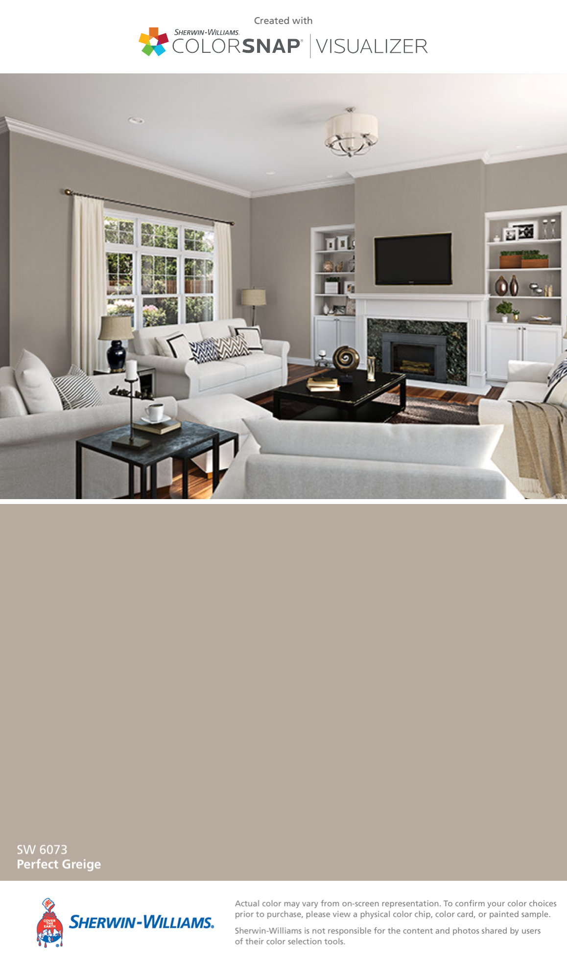 I found this color with colorsnap visualizer for iphone - Perfect paint color for living room ...