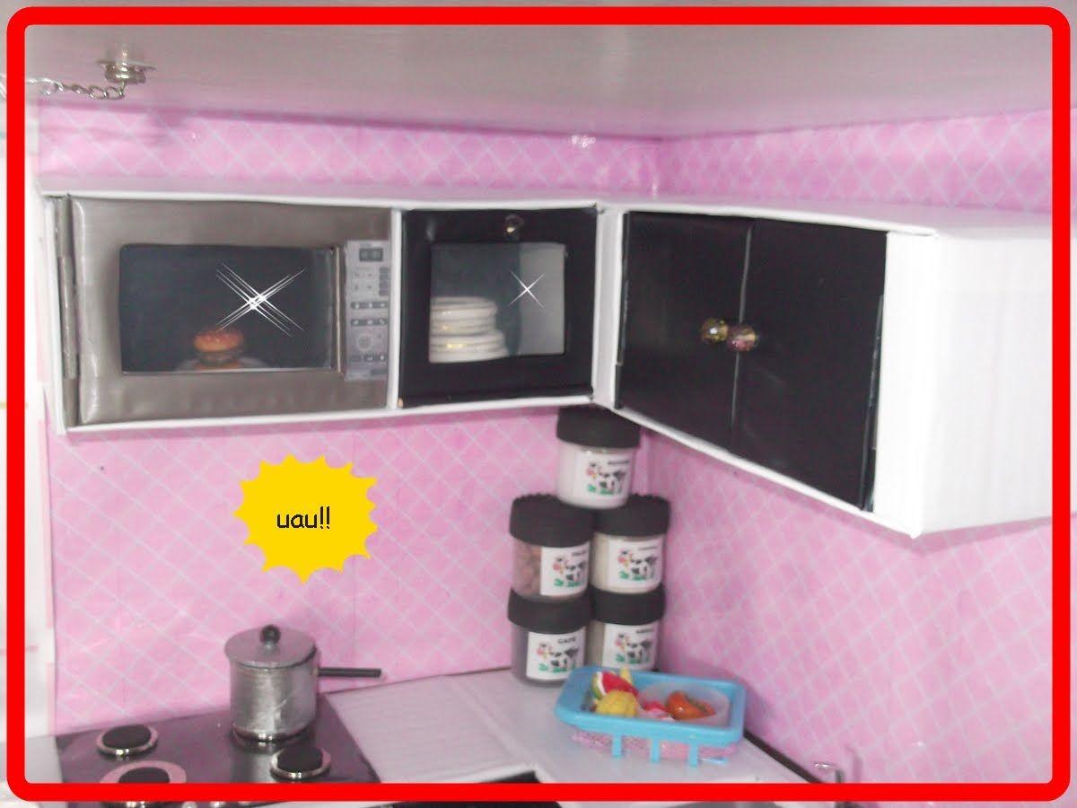 Armario Ferro Tok&Stok ~ COMO FAZER ARMÁRIO SUSPENSO c microondas embutido Grandaughters Pinterest Barbie