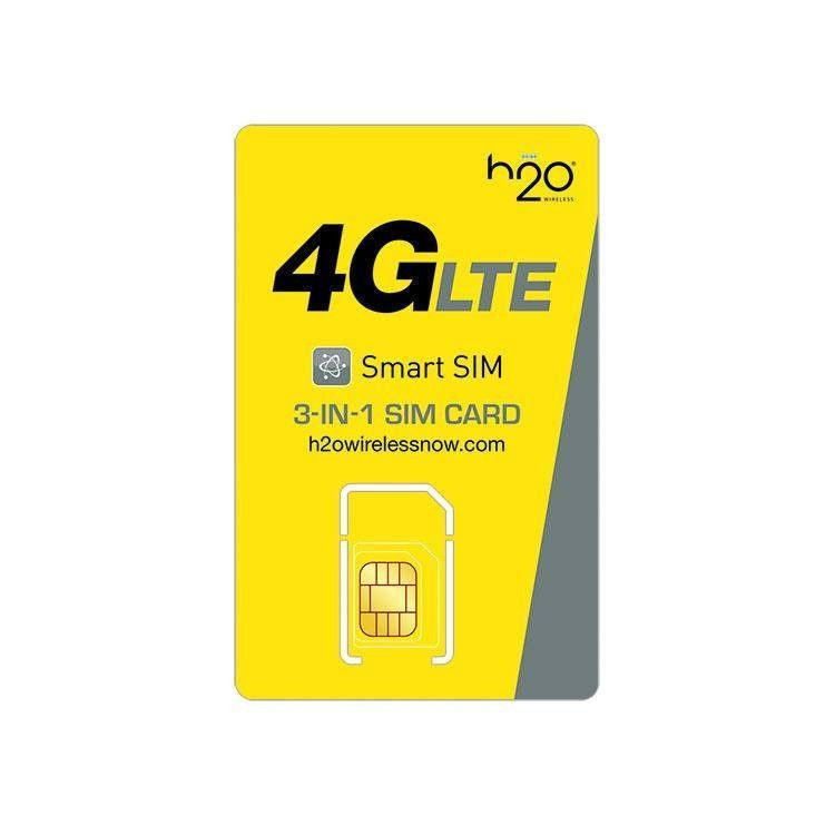 H2o wireless 3in1 sim card with first month included