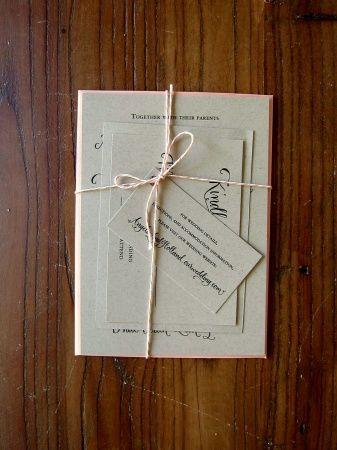 tied invitations