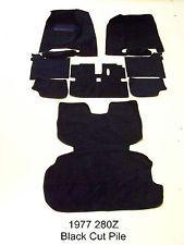 Datsun 1977 280z Black Carpet Kit Set Complete New