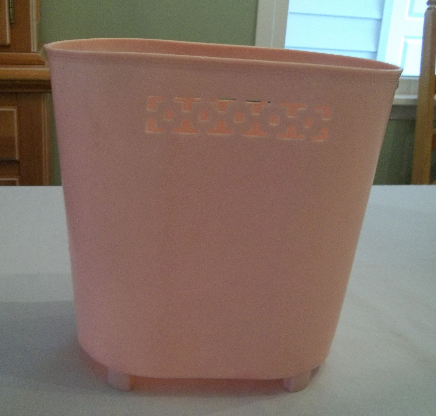 Cool Wastebaskets Vintage Mid Century Light Pink Plastic Wastebasket Waste