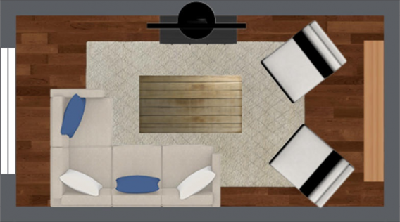 4 Furniture Layout Floor Plans For A Small Apartment Living Room Small Living Room Layout Small Apartment Living Room Apartment Living Room Layout