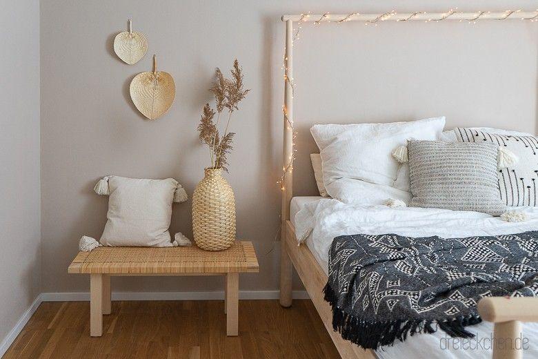 Neue Wandfarbe Furs Schlafzimmer Ein Boho Traum In Beige Dreieckchen Lifestyle Blo Schoner Wohnen Schlafzimmer Wandfarbe Wandfarbe Schlafzimmer Beruhigend