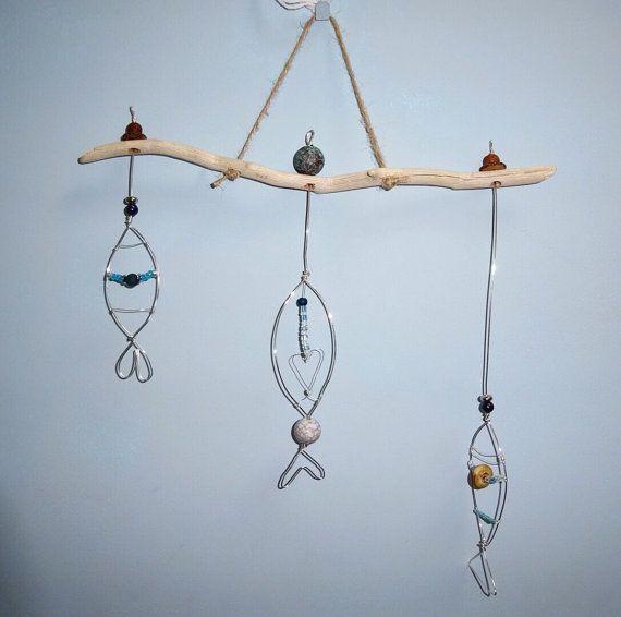 Fish suncatcher wire fish hanging decoration by PolkaDotCraftsUK ...