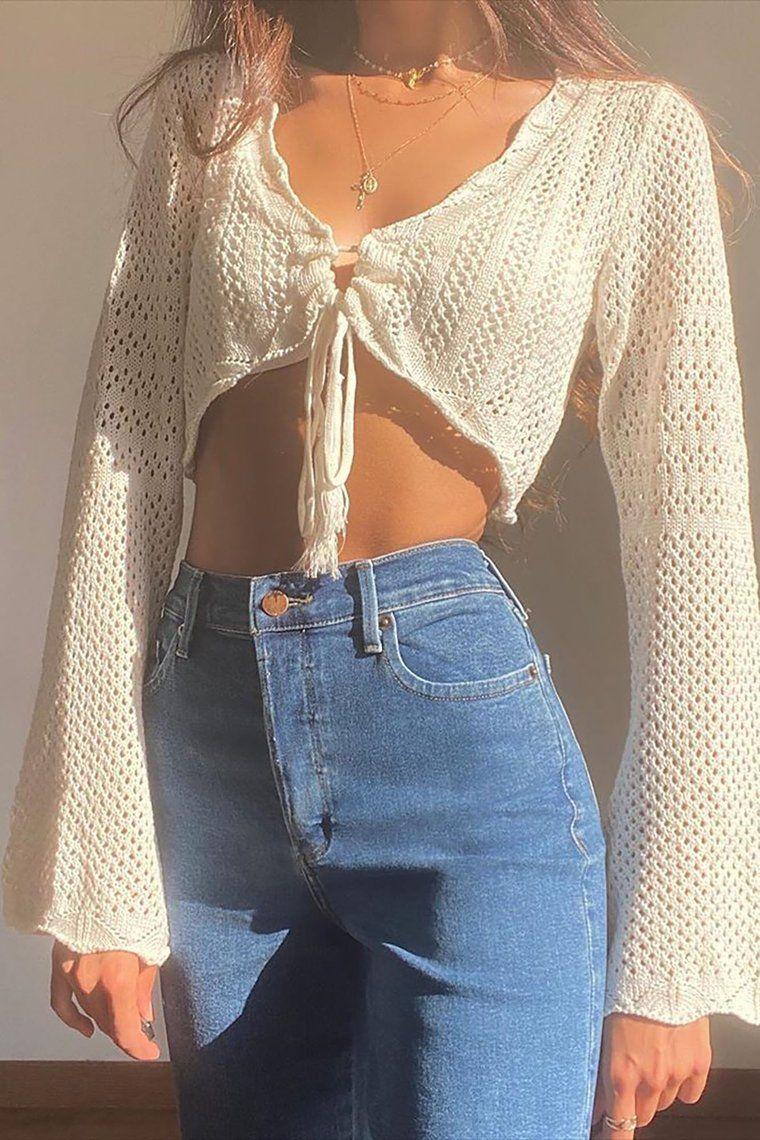 Lana Crochet Top – Off White – style
