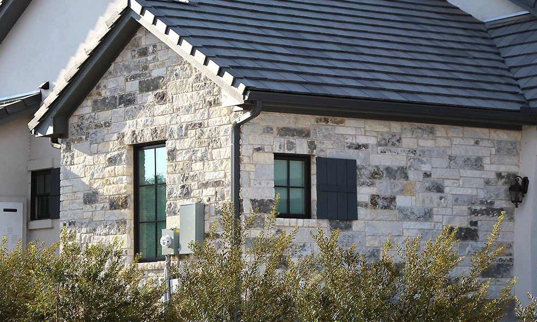 Bluebonnet Chopped Rock Materials Brown House Exterior House Exterior Blue Bonnets