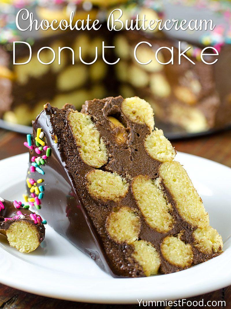 Chocolate buttercream donut cake recipe cake recipes